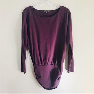 Lilla P Purple Long Sleeve Tunic Top XS